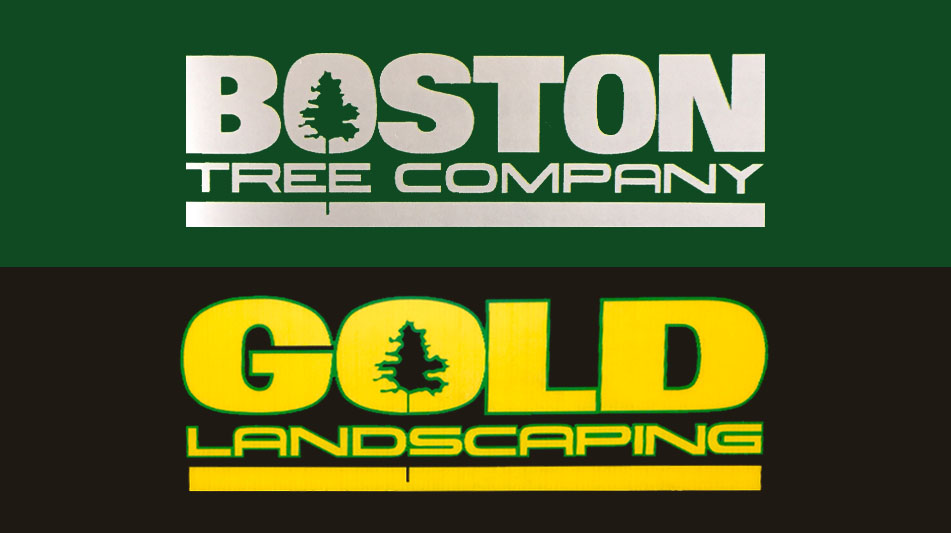 Boston Tree Company and Gold Landscaping Logos